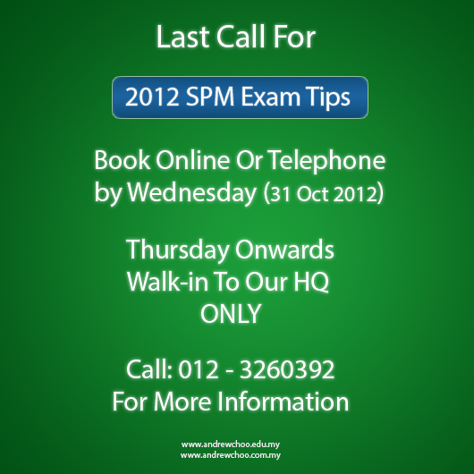 Last Call for SPM 2012. Get Your TIPS NOW.