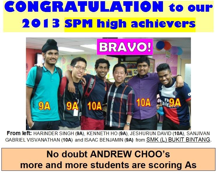 2013 SPM ACHIEVERS