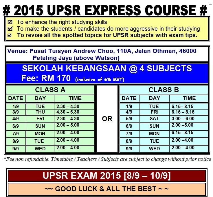 UPSR EXPRESS CLASS - SK school