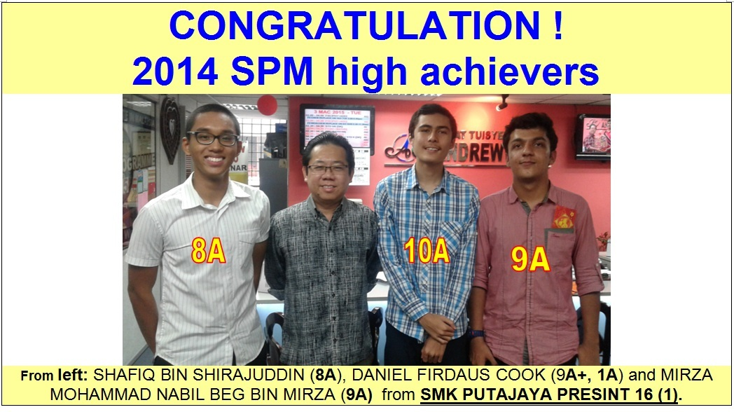 CONRATS TO SPM ACHIEVERS