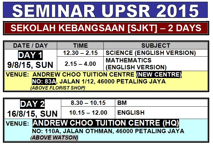 SEMINAR UPSR 2015 (SJKT) PJ OLD TOWN -1