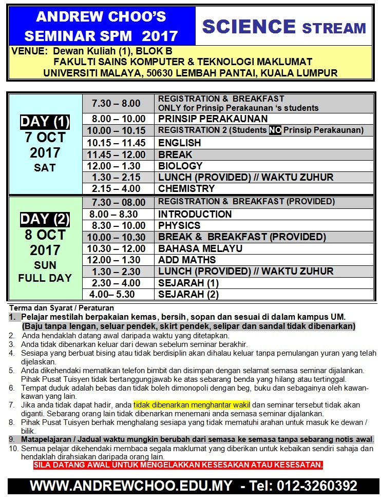 2017 SEMINAR SPM SCIENCE STREAM