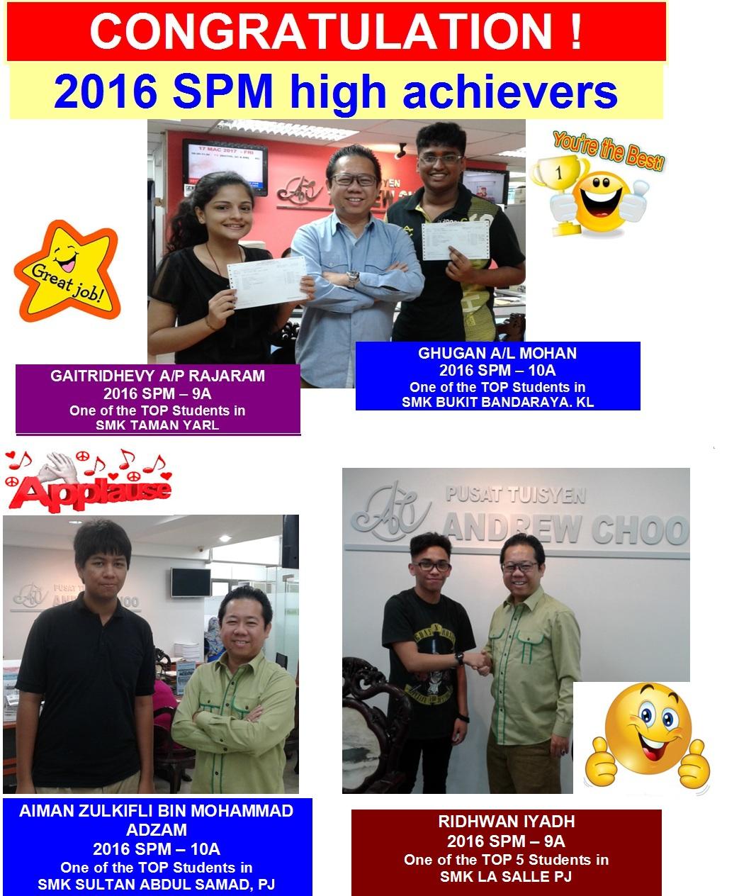 2016 SPM RESULTS 1