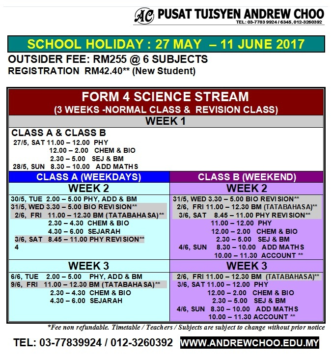 F4S HOLIDAY PROGRAMME JUNE 2017